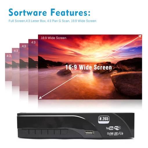 Home DVB-T2 H.265 HEVC H.264 DVB-T Receiver HDMI RCA Terrestrial Digital TV Receiver TV Tuner SCART MPEG4 8