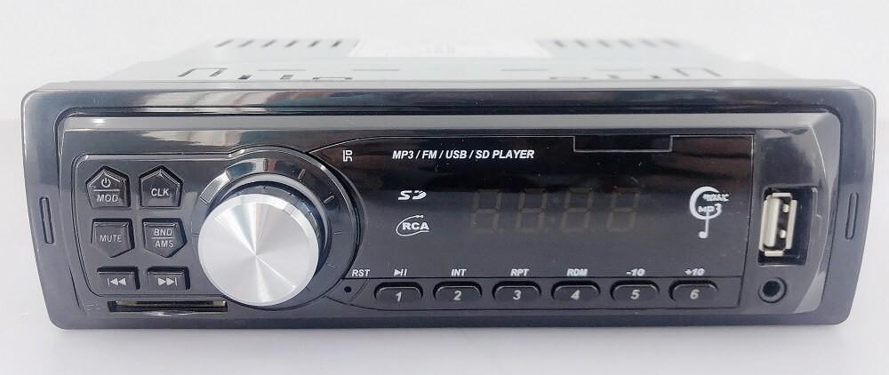 In dash One din Car USB SD MP3 player FM radio AUX audio input 12
