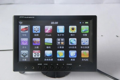 9 INCH Touch screen Windosce6.0 Monitor With GPS VCAN1379 1