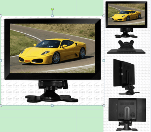 9 inch HDMI touch monitor with USB VCAN1426 1
