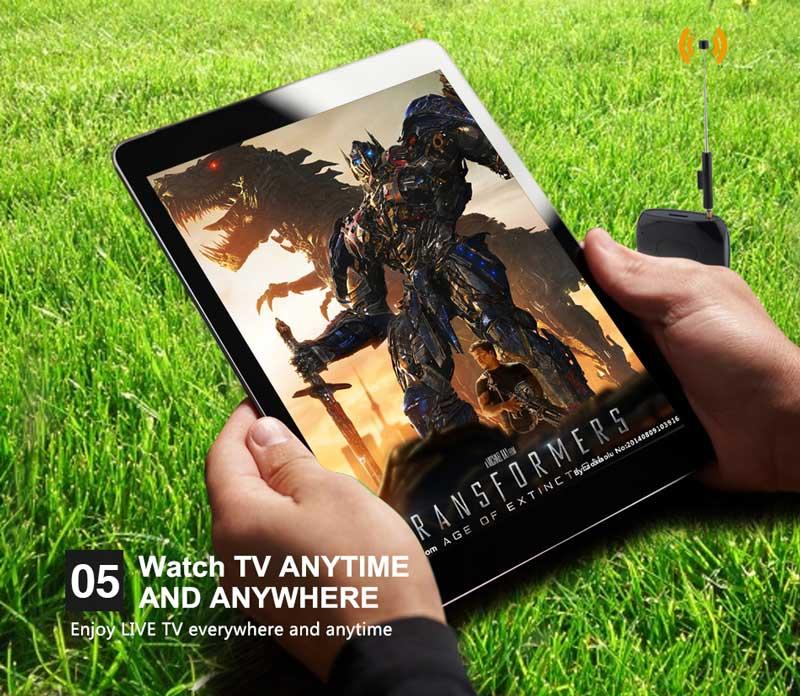 WiFi-TV1W digital TV wifi receiver dvb-t isdb-t for smartphone no need internet 24