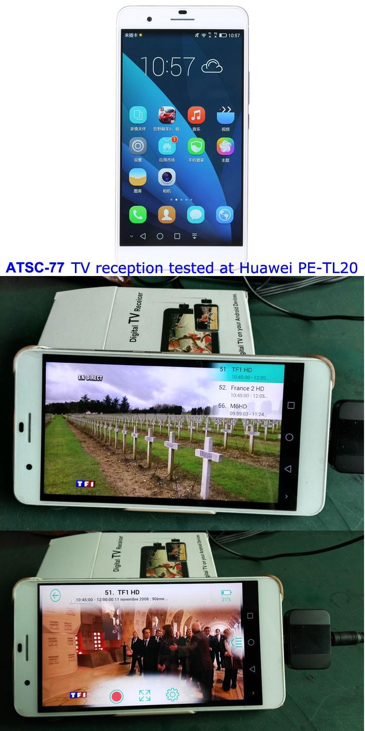 ATSC USB TV stick mobile phone use tuner USA Canada Mexico micro usb android phone pad ATSC-77 27