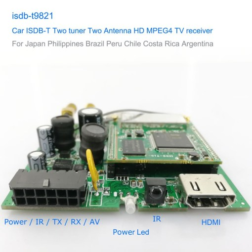 Car ISDB-T Two tuner Two Antenna HD MPEG4 TV receiver for Brazil Peru Chile Costa Rica 1