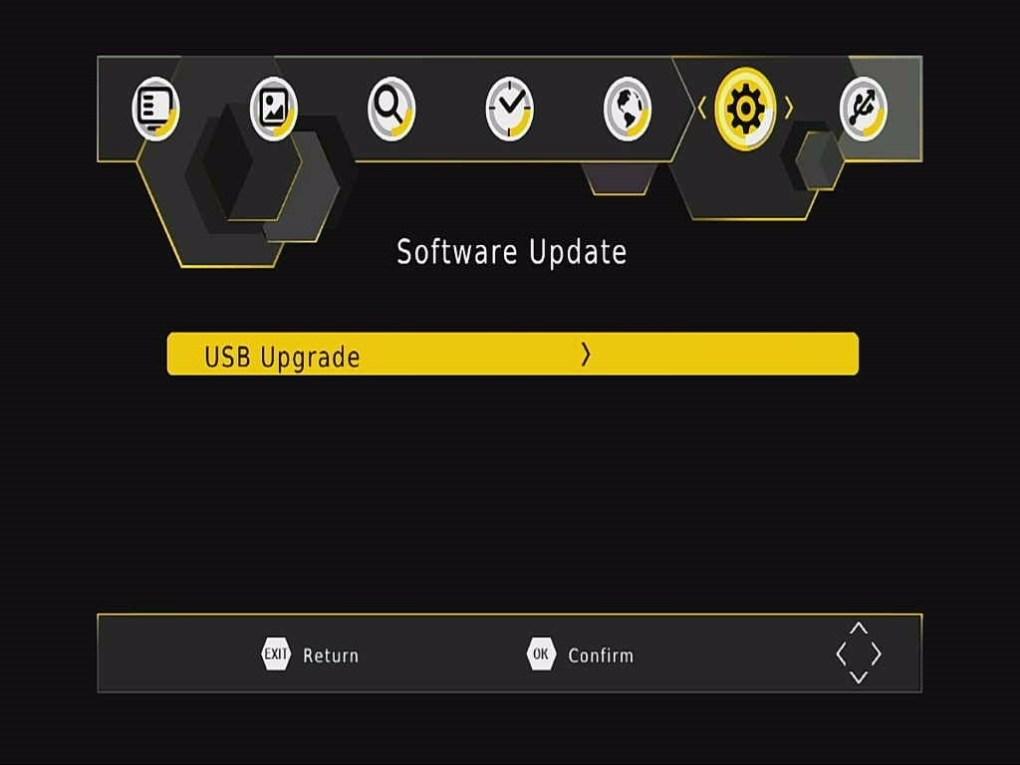 DVB-T265 Software Upgrade OSD Menu