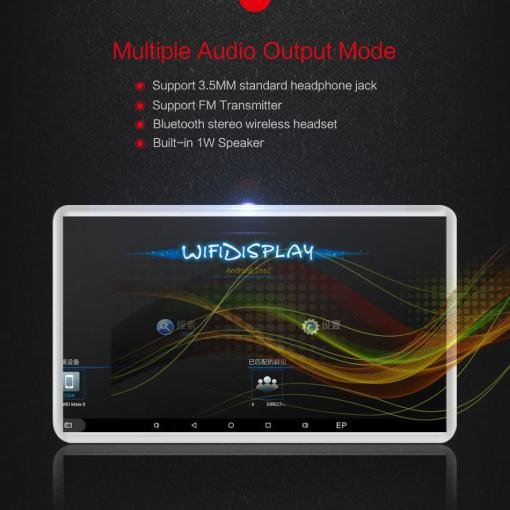 Android Headrest Player 11.6 inch IPS HD Monitor With WiFi Speaker Bluetooth FM transmitter Seat Touch Screen 12V 2PCS Pair 9