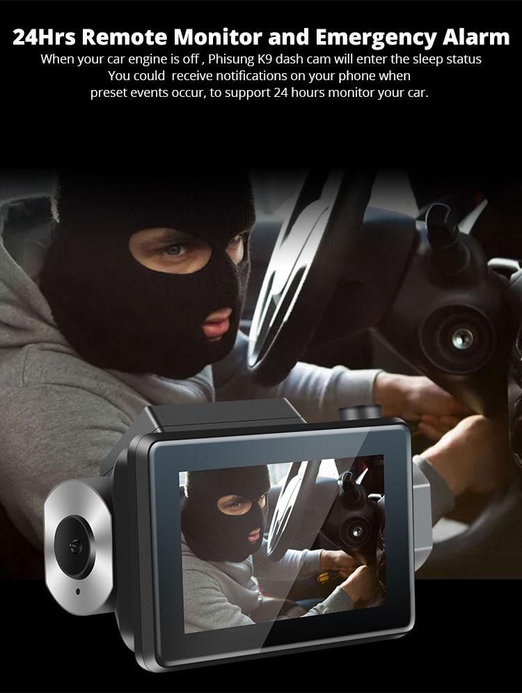 Android DVR dashcam car camera 3.0 inch full 1080 HD GPS logger dual camera video recorder Vcan1608 12