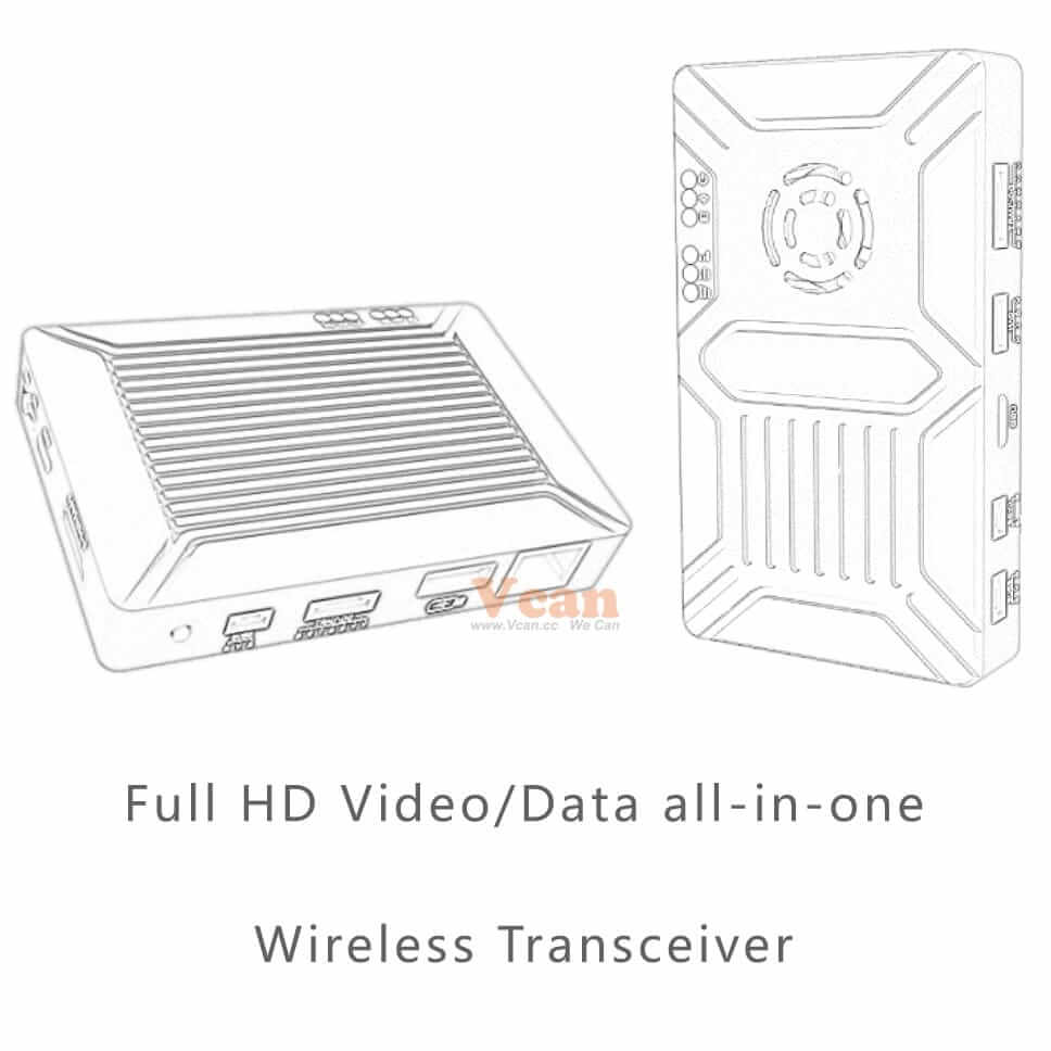 7KM wireless Video Data RC Transmission System long range low latency HDMI SDI 15km OFDM Vcan1643 4
