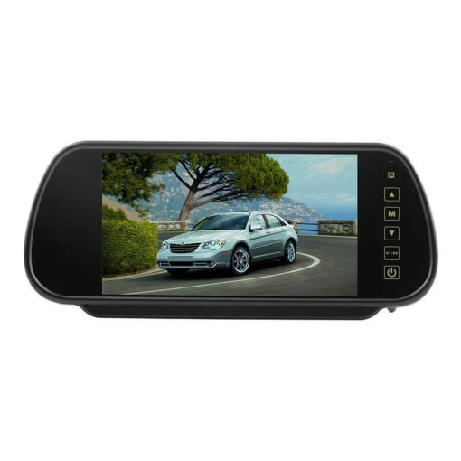 7 Inch Car Mirror Monitor Touch Button Auto Vehicle Parking Rear View Reverse HD Two inputs, install at original mirror RVM-700 1