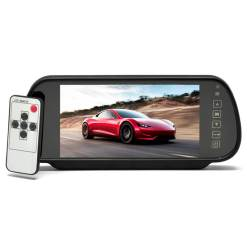 7 Inch Car Mirror Monitor Touch Button Auto Vehicle Parking Rear View Reverse HD Two inputs, install at original mirror RVM-700 10