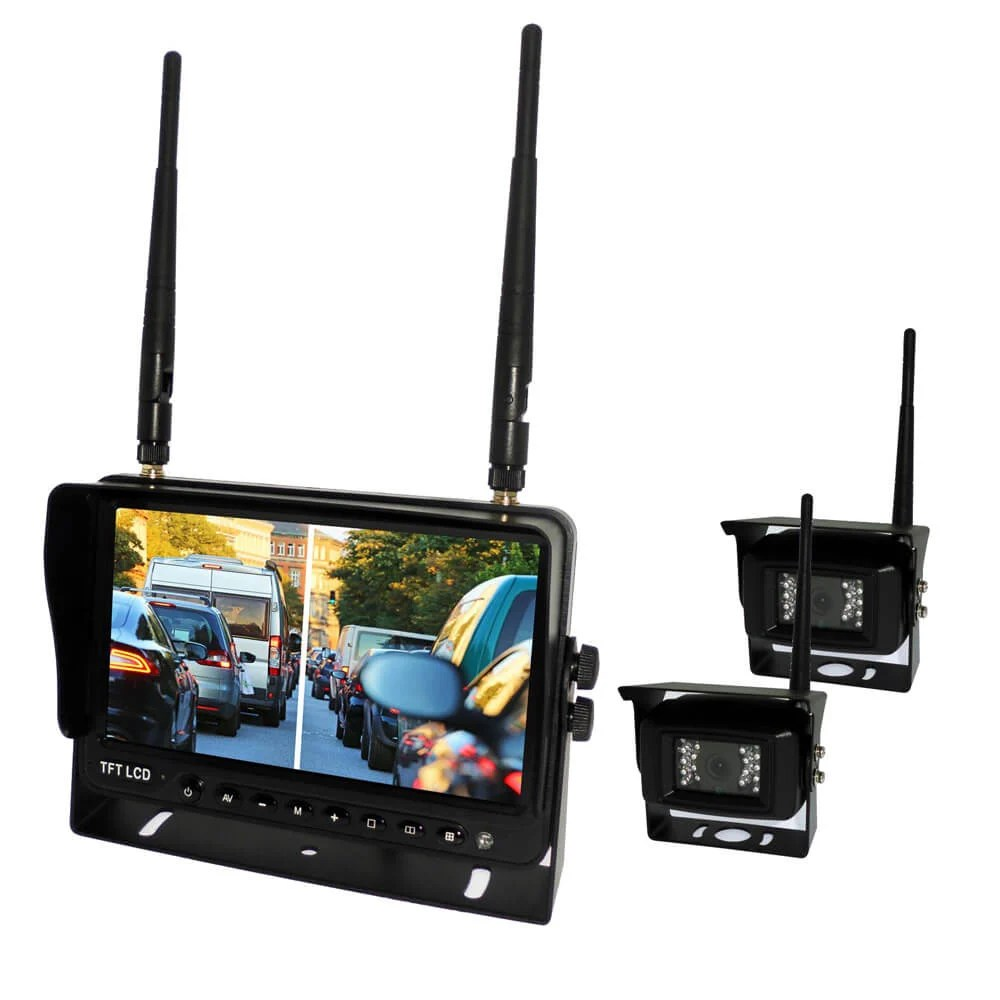 7 inch Wireless DVR quad monitor camera for Truck vehicle with AHD 1280 Night Vision HD Wifi Camera SD card Vcan1667 20