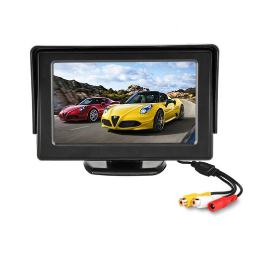 4.3 inch car Review monitor hd for parking reverse camera 4