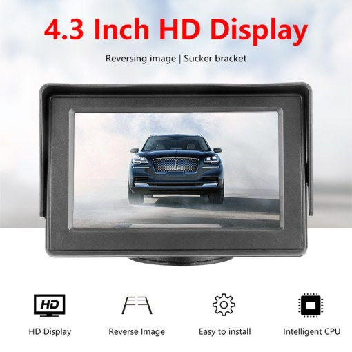 4.3 inch car Review monitor hd for parking reverse camera 1