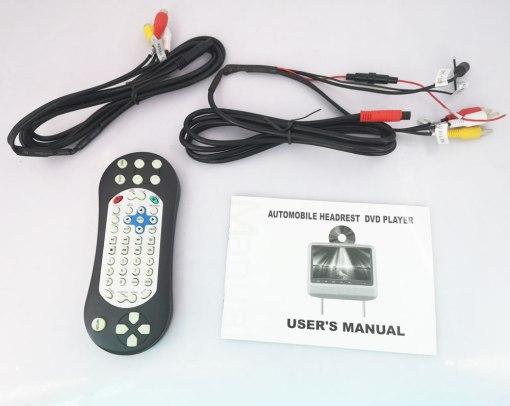 7 inch Headrest DVD player Black USB SD IR FM vc011 4