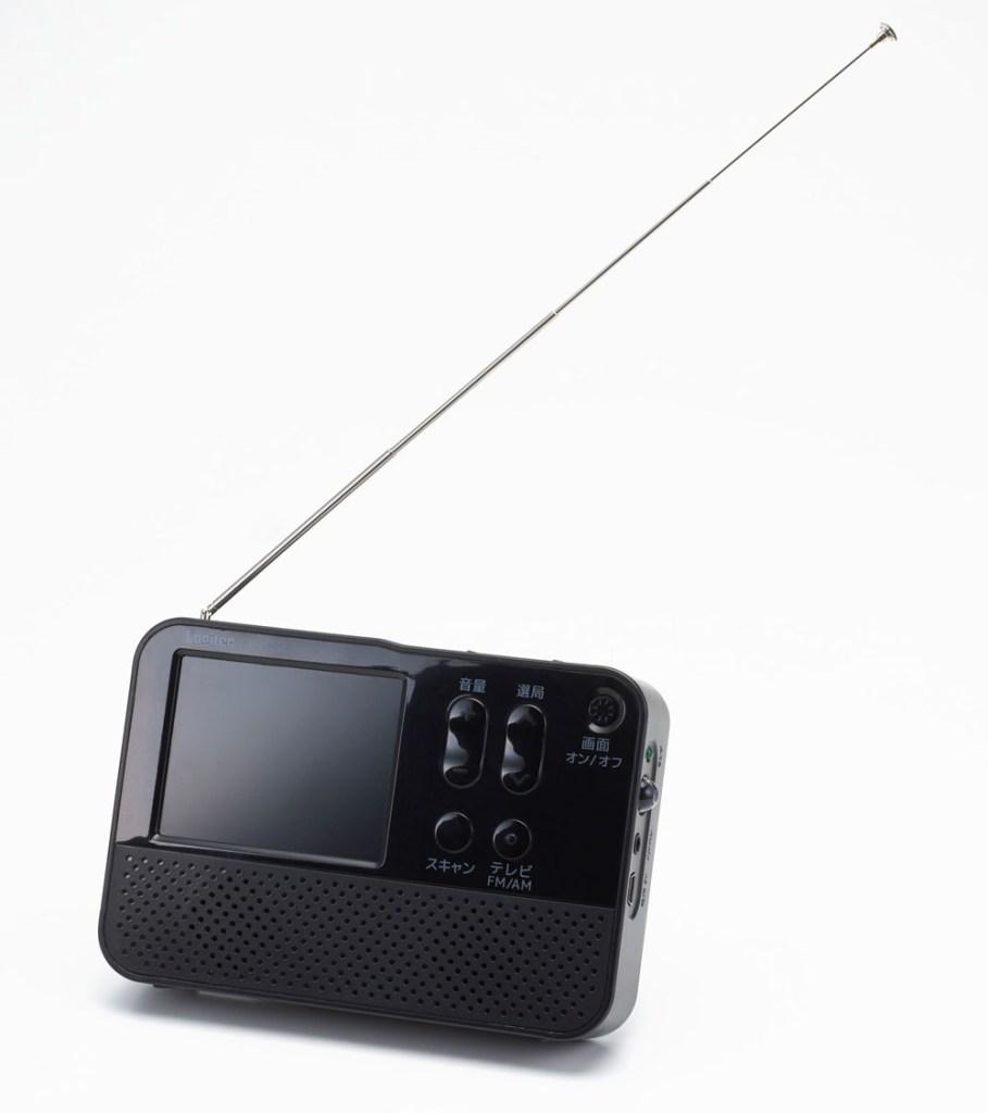 FM/AMポータブルラジオ 2.8インチ液晶搭載 ワンセグテレビ付き ワイドFM対応 2