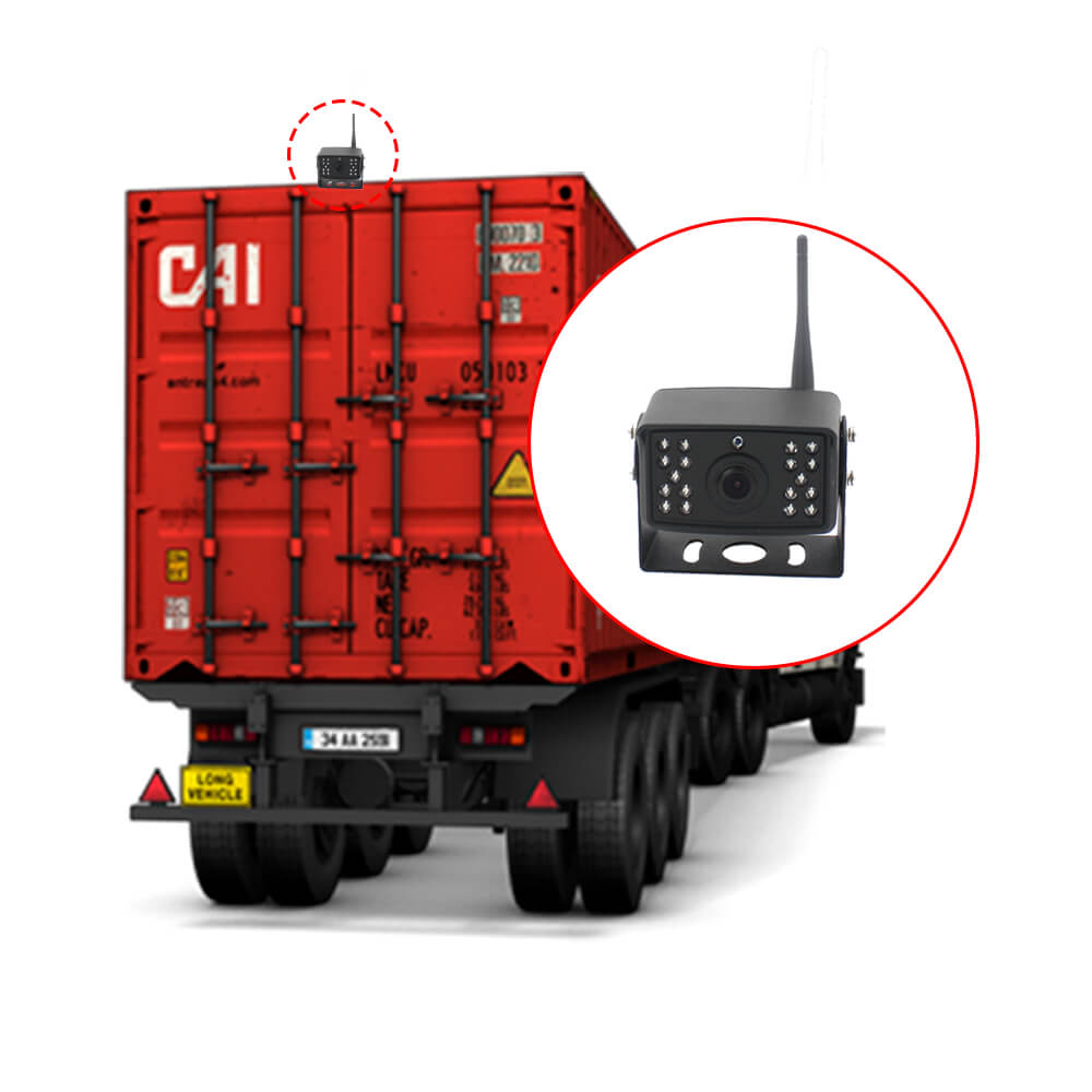 7 inch quad monitor wireless camera DVR for auto mobile truck Vehicle screen rear view monitor reverse backup recorder wifi camera 30