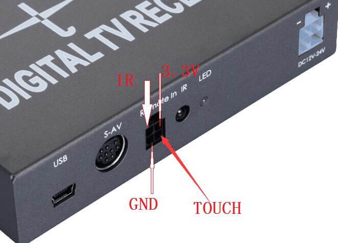 ATSC TV box for head unit touch control IR Protocol