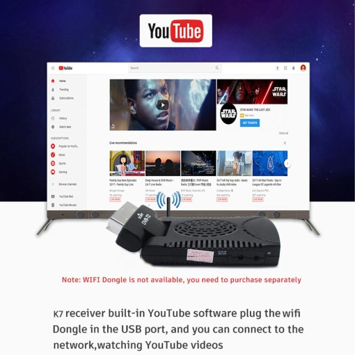 DVB-T2 H265 Scart TV Tuner Box Digital Terrestrial Receptor WIFI Receiver Youtube Set Top Box 1080P IPTV Box 5