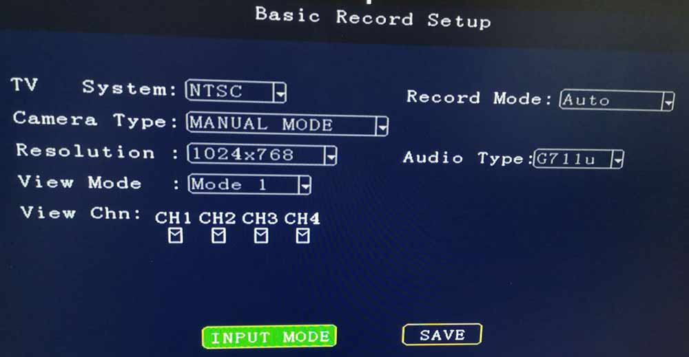 Does 1080P DVR support normal CVBS camera input? 1