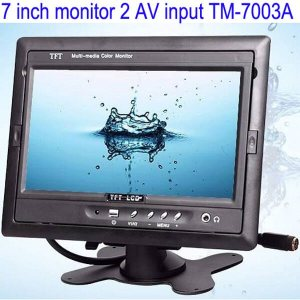 Car 7 inch TFT LCD Monitor 2CH Video Input for rear view camera TM 7003A