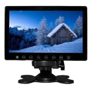 VCAN1412 7inch car digital lcd screen monitor with touch botton 5 2