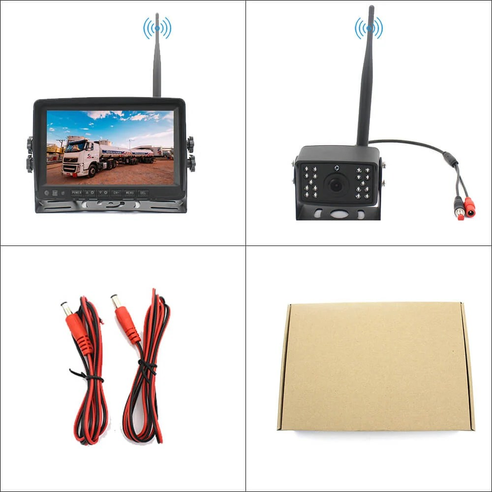 7 inch quad monitor wireless camera DVR 3