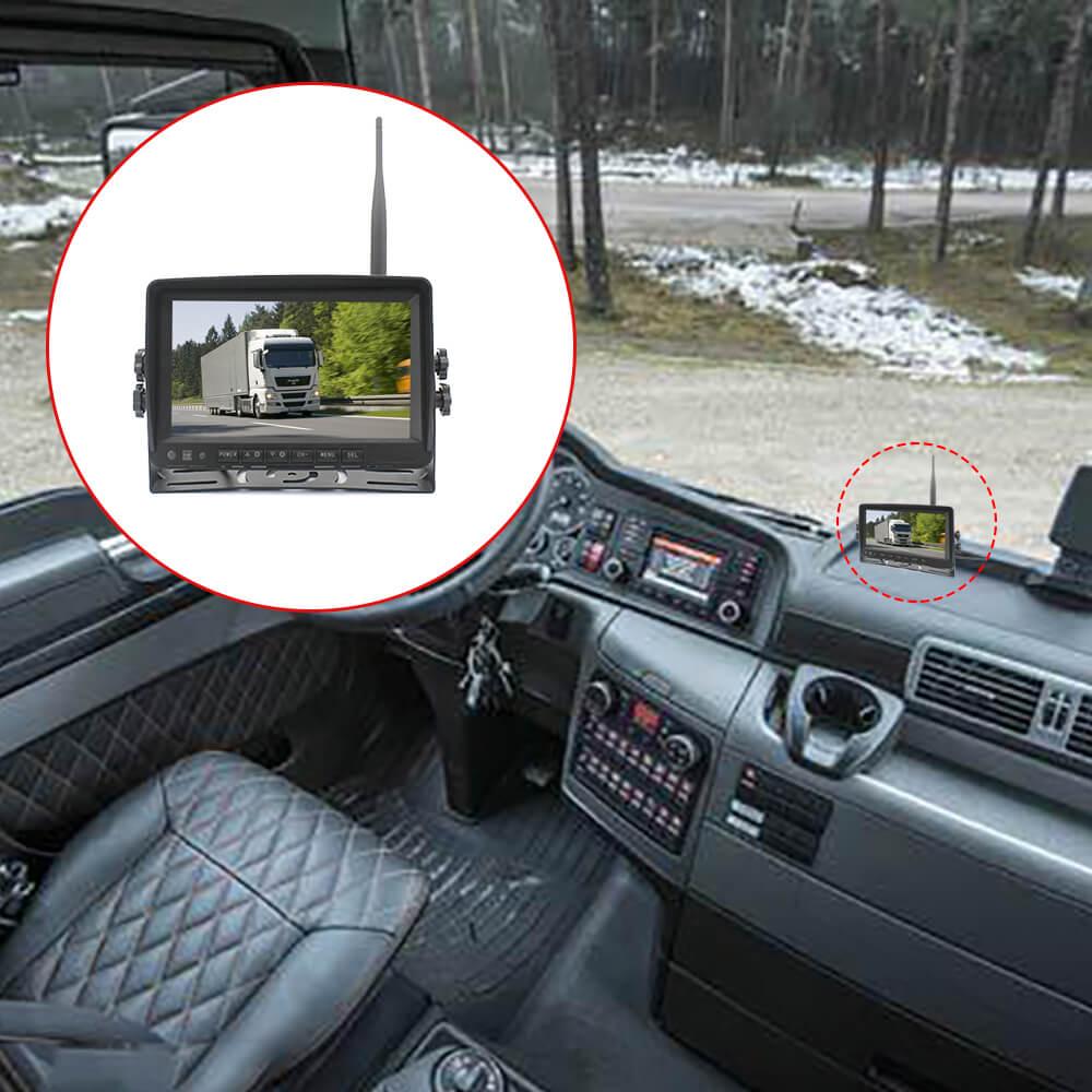 7 inch quad monitor wireless camera DVR 6