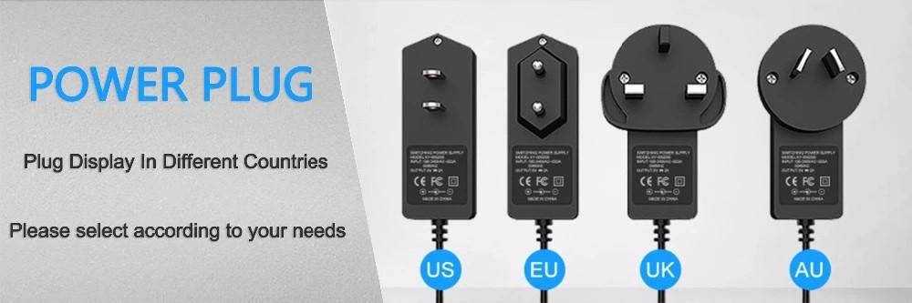 worldwide power plug types