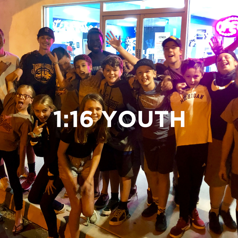 1:16 Youth Wednesday Nights