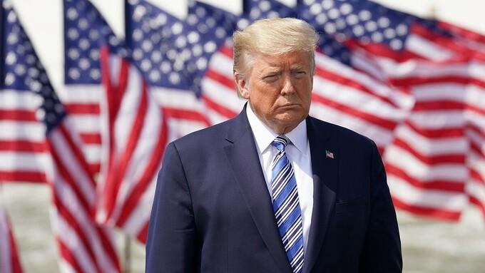 Tổng thống Trump tại Virginia hồi tháng 3/2020. Ảnh: Reuters