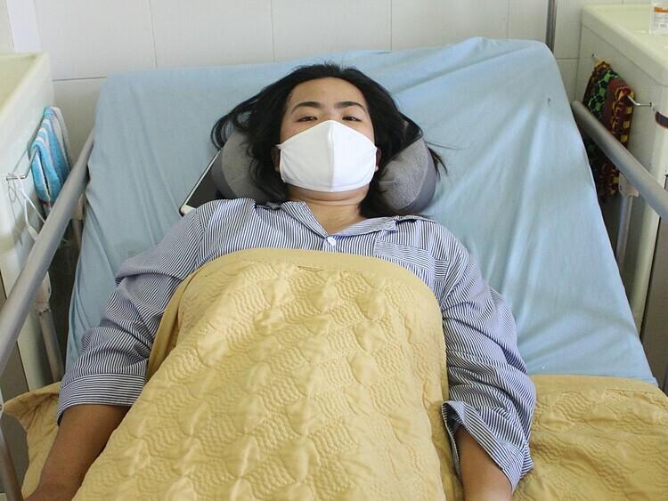 Bệnh nhân hồi phục sau phẫu thuật, sức khỏe ổn định. Ảnh: Bệnh viện cung cấp