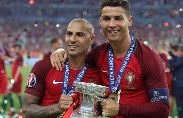 Quaresma và Ronaldo chinh chiến nhiều năm cùng nhau trong màu áo Bồ Đào Nha, cùng góp công giúp đội tuyển này vô địch Euro 2016..