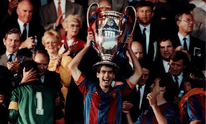 Guardiola là trụ cột trong đội hình Bara của Johan Cruyff đoạt Cup C1 năm 1992. Ảnh: EFE