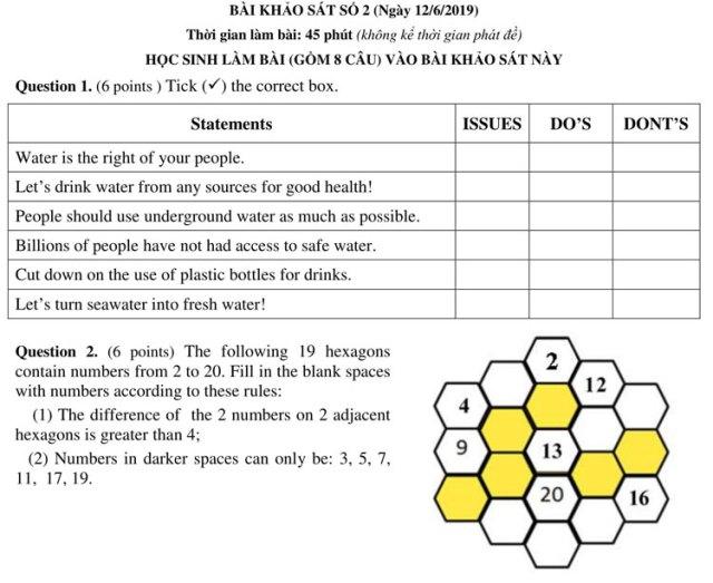 Đề và đáp án bài khảo sát vào lớp 6 trường chuyên Trần Đại Nghĩa - 5
