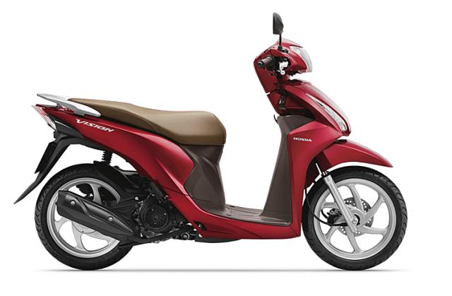 Xe ga Vision màu đỏ đậm. Ảnh: Honda