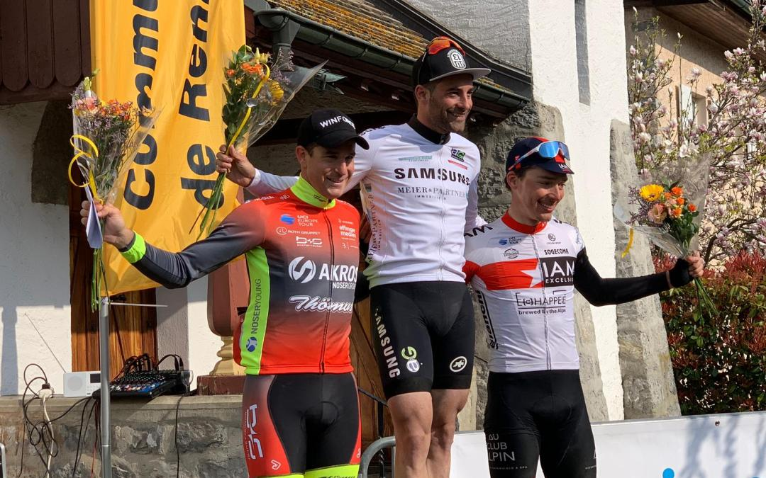 Troisième podium en trois courses pour Simon Pellaud