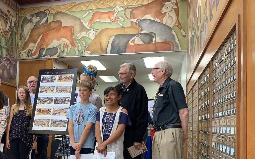 PLANET VENTURA | Post Office Murals stamps dedication