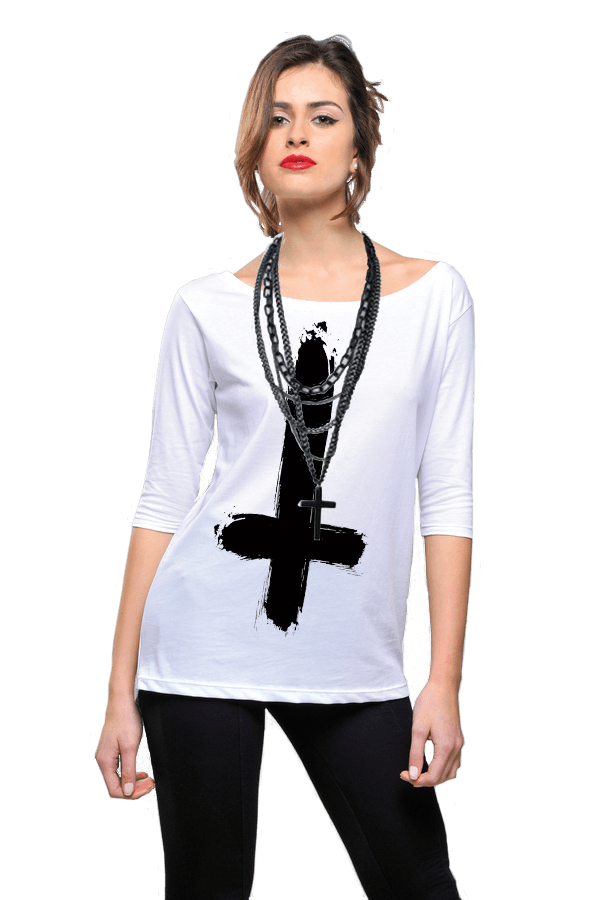 Shamelesshirt Black Cross