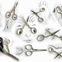 From popcorn elephant to pencil-shaving accordion — Goofy sketches incorporate everyday objects