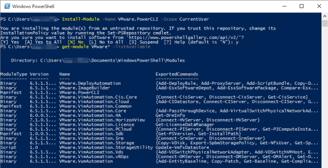 How to - Install PowerCLI 6 5 1 from PowerShell Gallery - vDays net