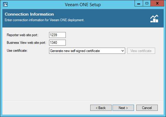 Veeam ONE step 8