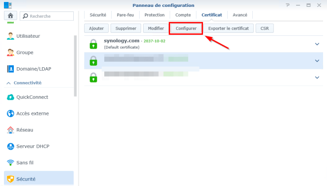 Synology-Generate and install an SSL certificate