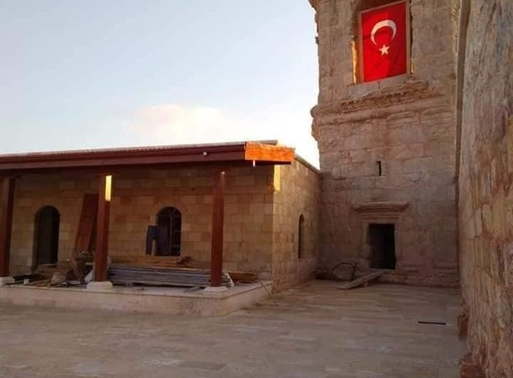 Turkish Ministry of Endowments turns Afrin's archaeological shrine of Cyrus into a mosque