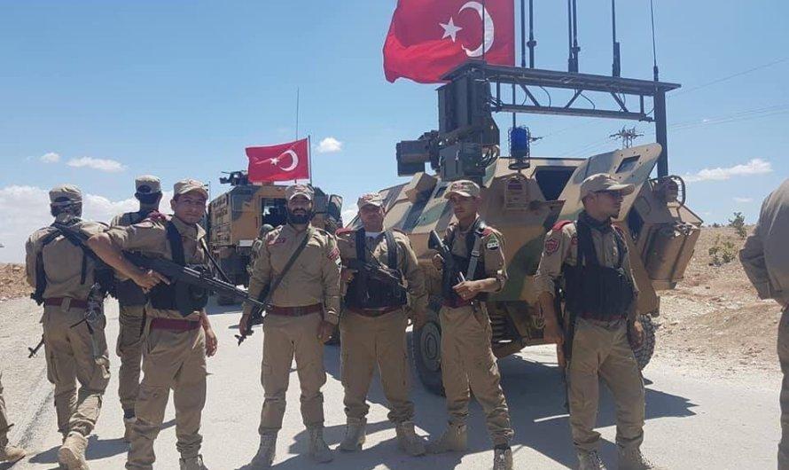 دورية للقوات التركية تفذ جولة على خط التماس بين منبج وجرابلس