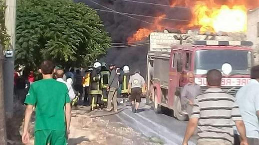 """ادلب: نفجار مستودع ذخيرة لـ""""الحزب الإسلامي التركستاني"""""""