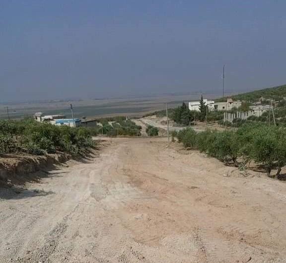 عفرين: تدمير منازل لمدنيين وقلع اشجار معمرة لشق طريق عسكري