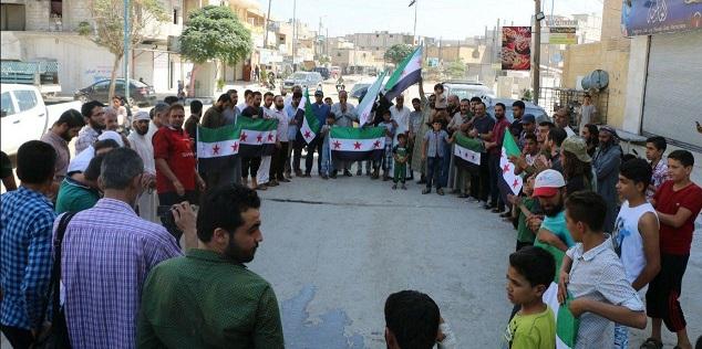 مظاهرات في حلب وادلب ضد الحملة العسكرية المحتملة لقوات الحكومة السورية