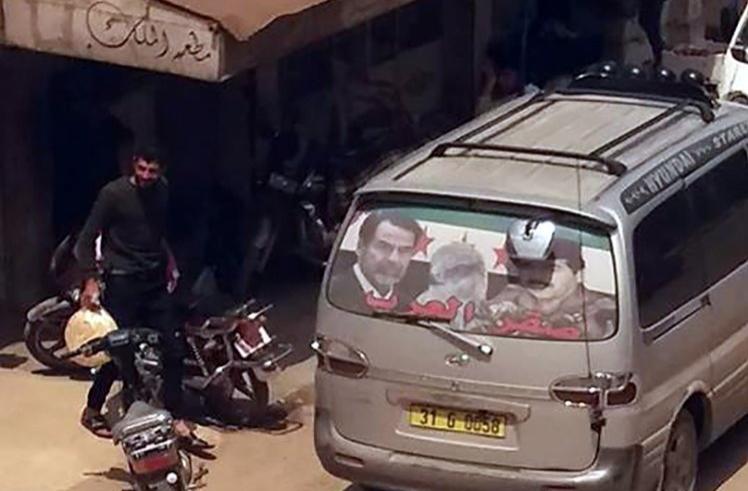 صور صدام حسين تغزو مناطق خاضعة لتركيا شمال سوريا