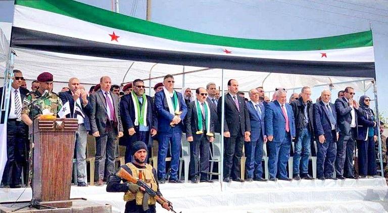 بعد 9 سنوات وبحماية تركية…الائتلاف يفتتح أول مقراته في سوريا