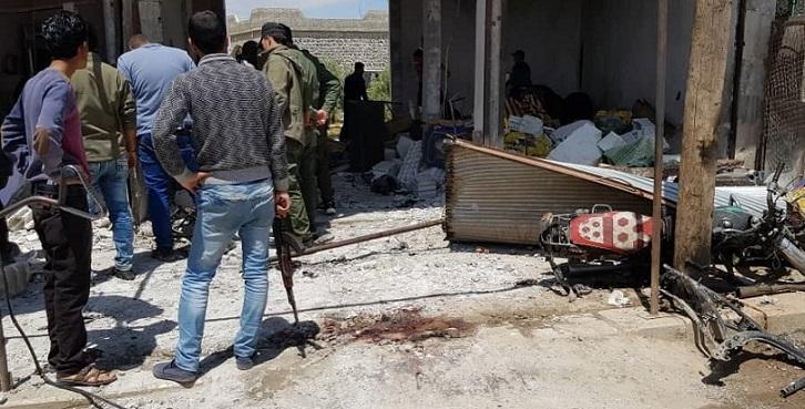 6 ضحايا في انفجار بسوق شعبي غربي مدينة منبج