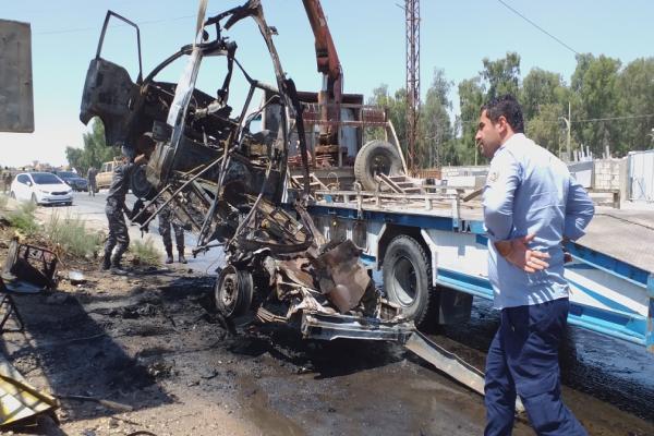 ثلاثة جرحى في انفجار سيارة مفخخة بالحسكة
